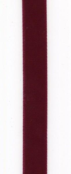 Hochdichtes Samtband 25mm aubergine 990
