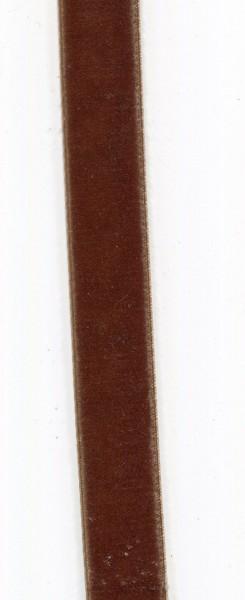 Hochdichtes Samtband 25mm braun 990