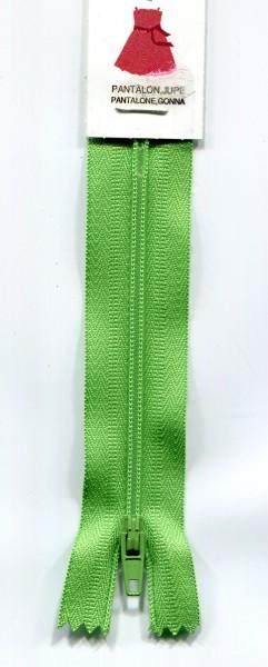 Reißverschluss nicht teilbar hellgrün