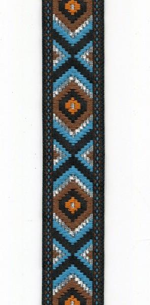 Jacquardborte Indianer blau 9453868