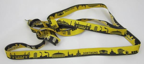 Dortmund Skyline Webband schwarz/gelb