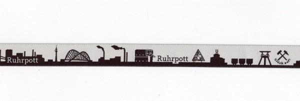 Ruhrpott Skyline Webband schwarz/weiss