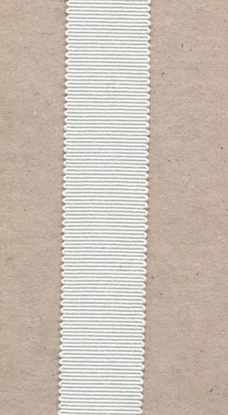 Ripsband 15mm weiss