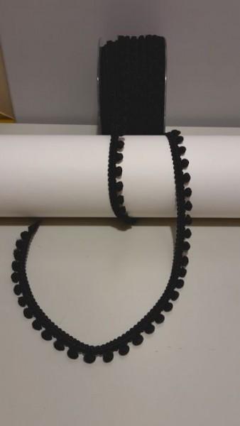 Pomponborte mini schwarz 4959