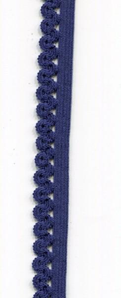 Unterwäsche Gummiband mit Zackenlitze dunkelblau 1941