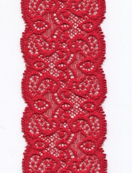 Tüllspitze elastisch rot 9096