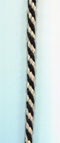 Kordel schwarz-weiss