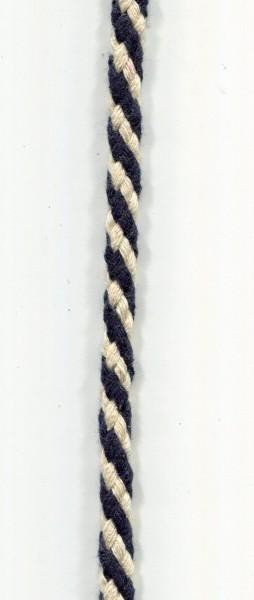 Kordel navyblau-weiss