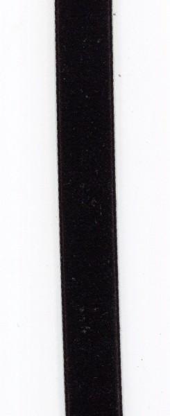 Hochdichtes Samtband 25mm schwarz 990