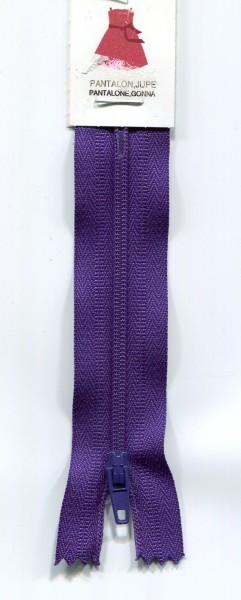 Reißverschluss nicht teilbar violett