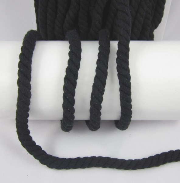 Kordel, schwarz, 15mm