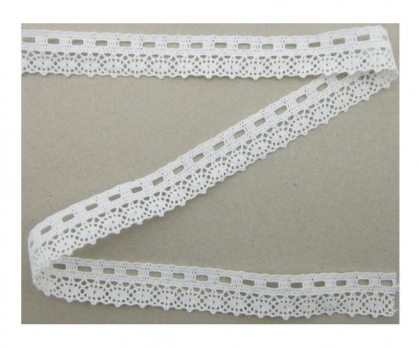 Spitze, Baumwolle, 23mm breit, weiß