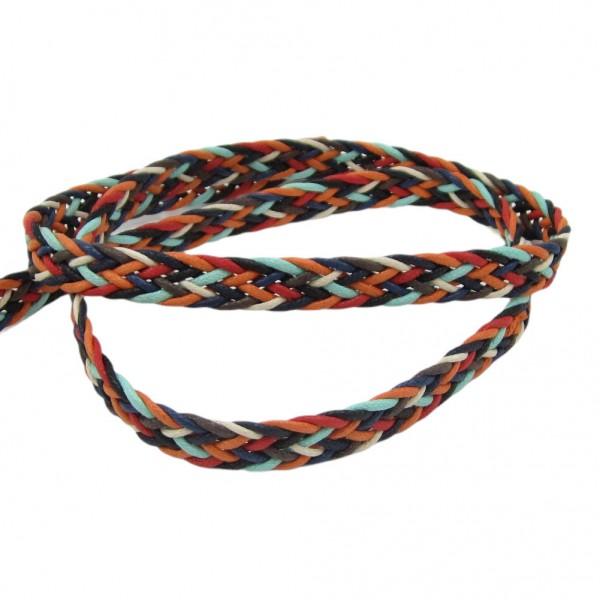 Gurtband geflochten multicolor 18mm breit