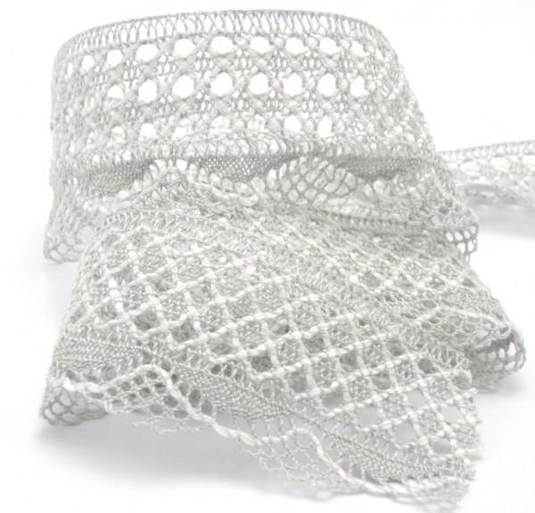 Baumwollspitze, grau, 40mm breit