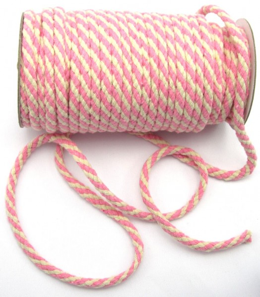 Kordel, Baumwolle, 6mm, 10 verschiedene Farben