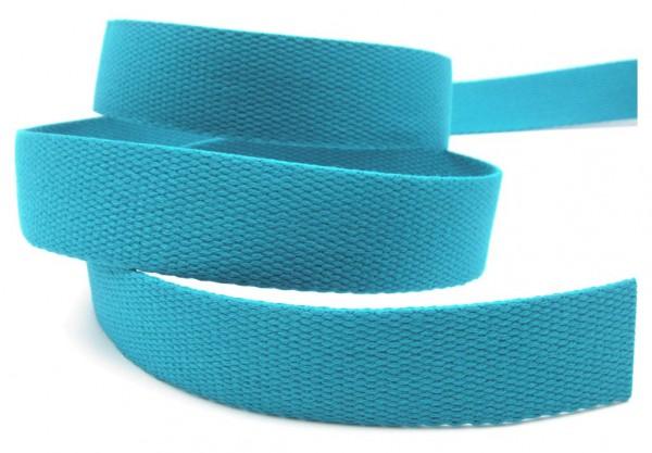 Gurtband, Baumwolle, 25mm breit, 22 Farben lieferbar