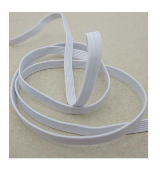 Gummiband für Maskenherstellung, 5mm breit, weiß
