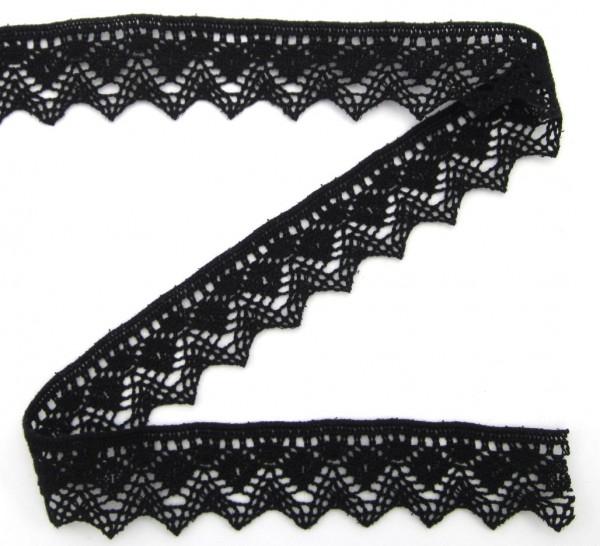 Baumwollspitze, schwarz, 30mm breit
