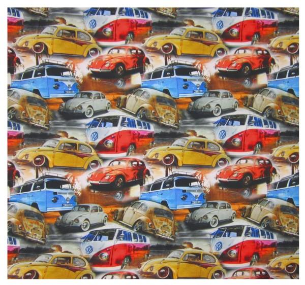 Jersey Stoff, Alte Autos, Busse, Volkswagen