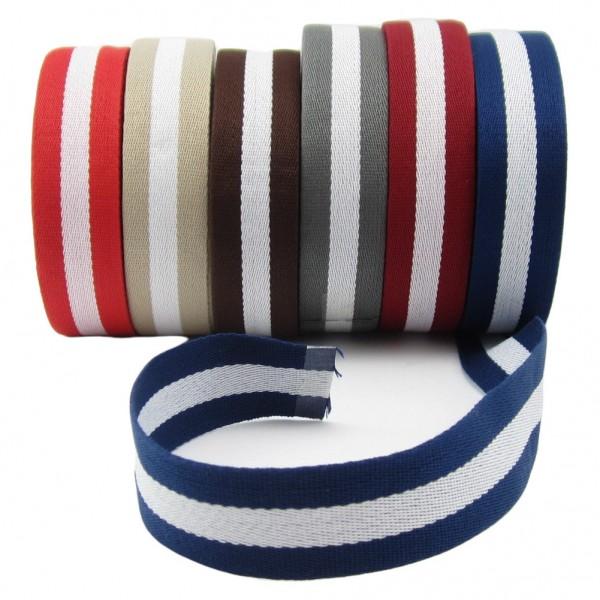 weiches Gurtband mit Streifen, 30mm breit