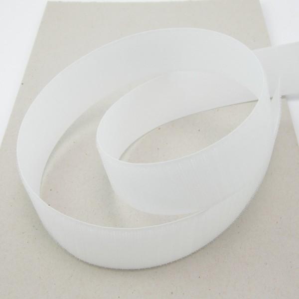 Hakenband für Klettverschluß, 38mm breit - schwarz oder weiß