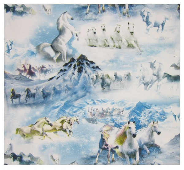 Tiere, Pferde, Berge, Schnee, Landschaft, Winter, hellblau