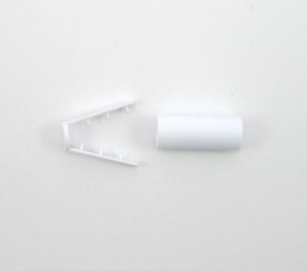 Kordelende für weiche geflochtene Kordeln, weiß, 4 Größen lieferbar
