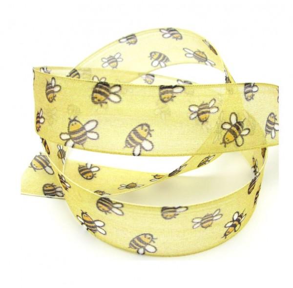 Biene mit formstabiler Kante, 25mm breit, melone