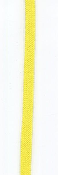 flache Baumwollkordel 10mm gelb