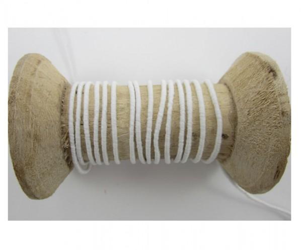 Gummikordel für Maskenherstellung, 2mm breit, weiß