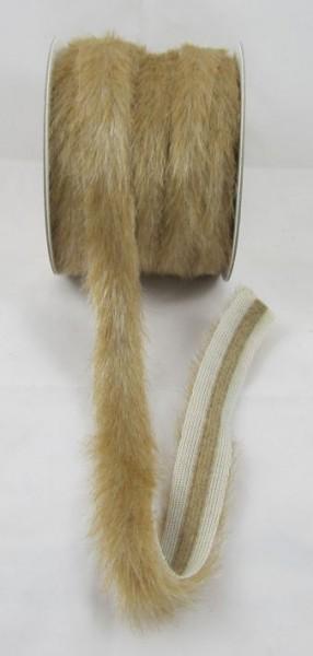 Pelzbesatz mit ca. 15mm Fasern