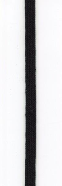 flache Baumwollkordel 10mm schwarz