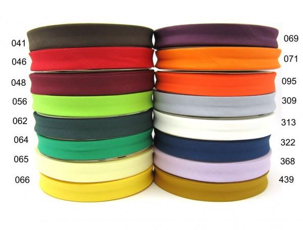 Baumwolle-Schrägband - 18mm - Uni - 16 Farben