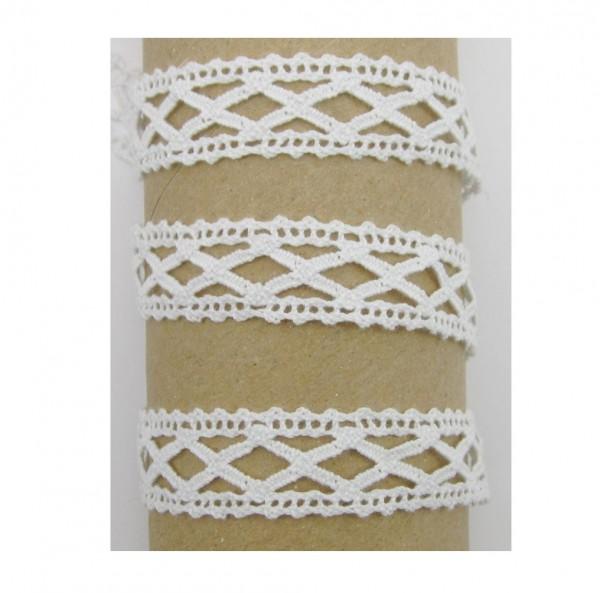 Spitze, Baumwolle, 17mm breit, weiß