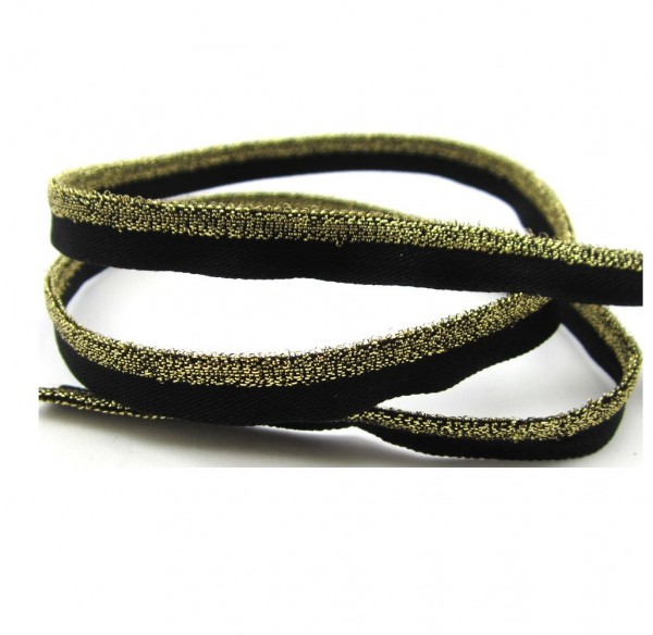 Paspel elastisch, 10mm breit,gold oder silber, 4 Farben