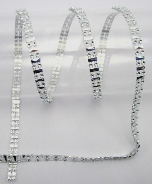 Perlenband, silber, glänzend, 10mm