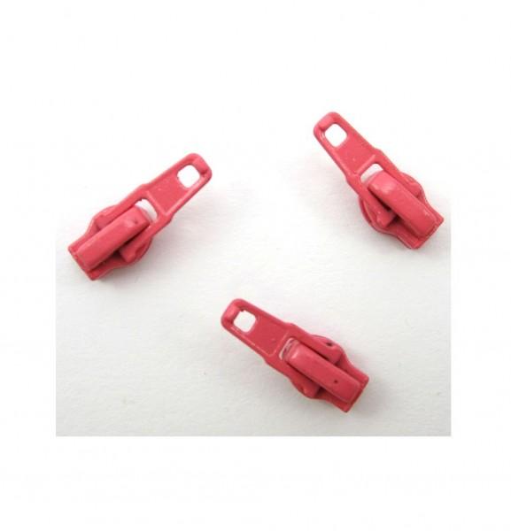 Schieber für Spiral Reißverschluss 4mm - lachsrot