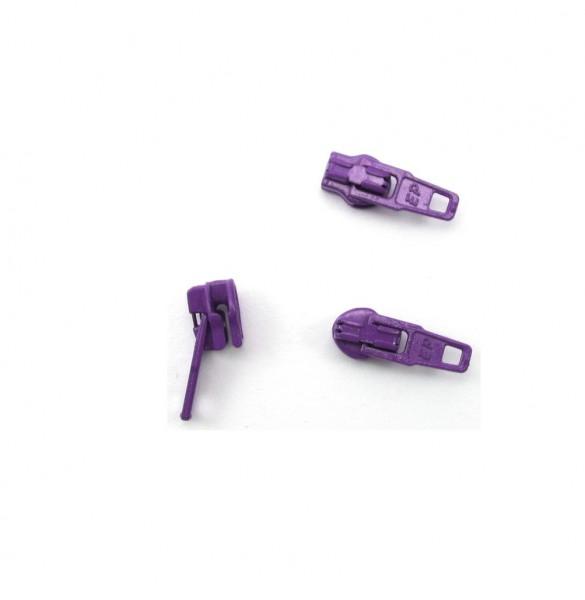 Schieber für Spiral Reißverschluss 4mm - violett