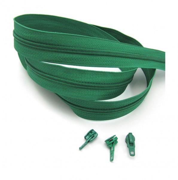 Endlosreißverschluss, 4mm Spirale - minzgrün