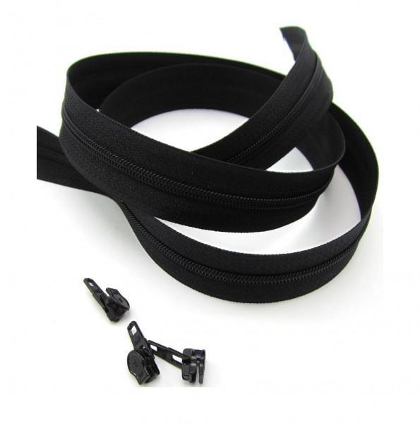 Endlosreißverschluss, 4mm Spirale - schwarz
