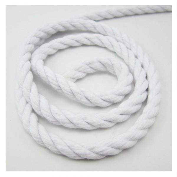 Baumwollkordel gedreht 10mm - weiß