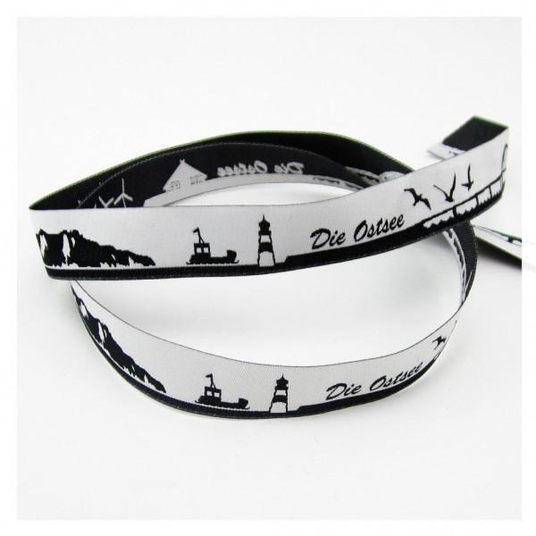 Die Ostsee Skyline Webband schwarz/weiss