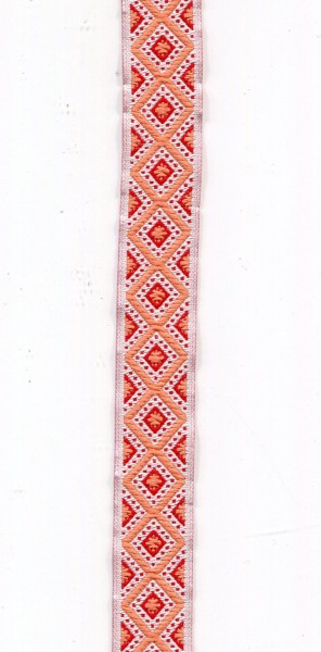 Jacquardborte Indianer orange 9453867