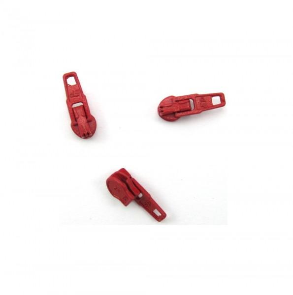 Schieber für Spiral Reißverschluss 4mm - bordeaux