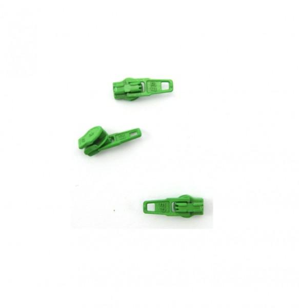 Schieber für Spiral Reißverschluss 4mm - maigrün