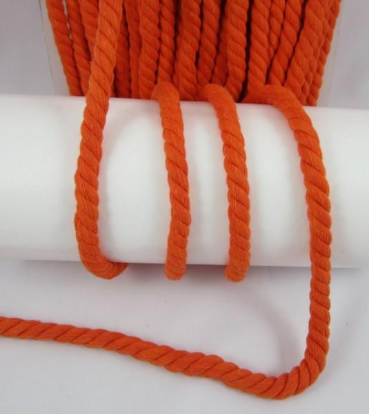Baumwollkordel, gedreht, 14mm, orange