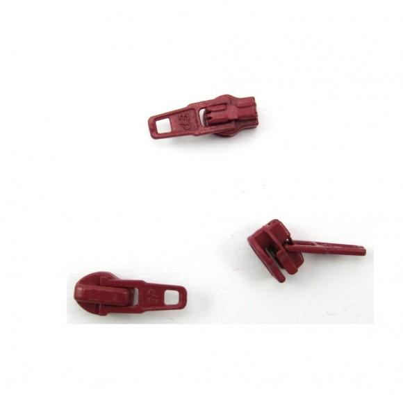 Schieber für Spiral Reißverschluss 4mm - weinrot