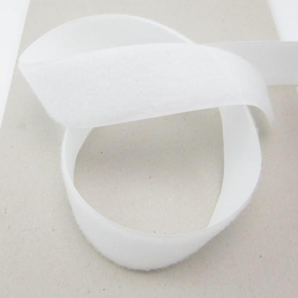 Flauschband für Klettverschluß, 38mm breit - schwarz oder weiß