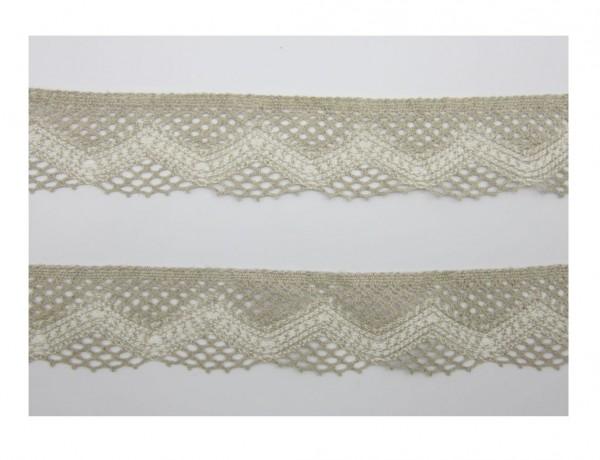 Spitze, Baumwolle, 55mm breit, natur-creme