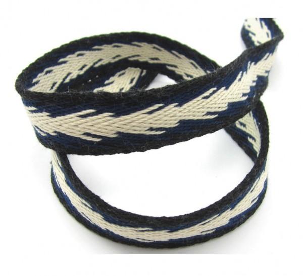 Gurtband mit schrägem Muster - in 4 Farben lieferbar